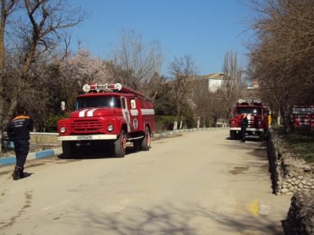 В Орджоникидзе провели пожарно-тактические учения