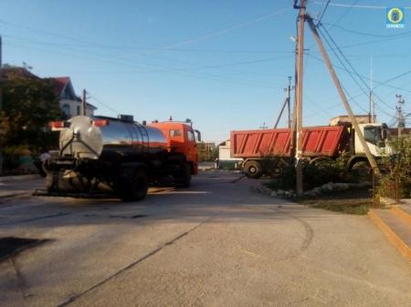 В Береговом закончили ремонт дороги