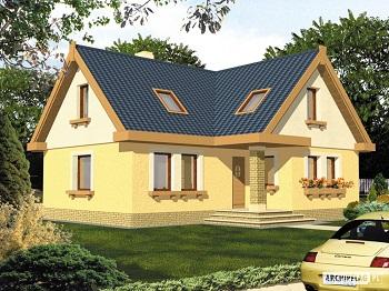 Монтаж Г-образной крыши с фронтонами различной ширины.
