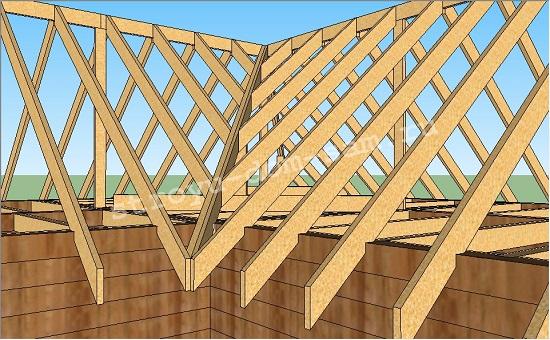 Как сделать 4-х скатную крышу для дома