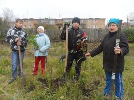 Участники акции «Живая память» высадили первые 350 кустов на месте нацистского концлагеря «Красный»