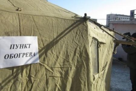 Спасатели города Феодосии 100% готовы к установке мобильных пунктов обогрева