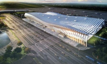 Новый аэровокзальный комплекс в Симферополе приобретает контуры «Крымской волны»