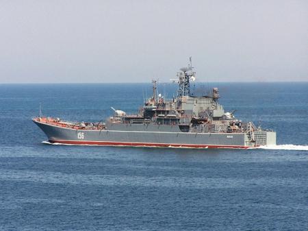Большой десантный корабль ЧФ «Ямал» вернулся в Севастополь после выполнения задач у берегов Сирии